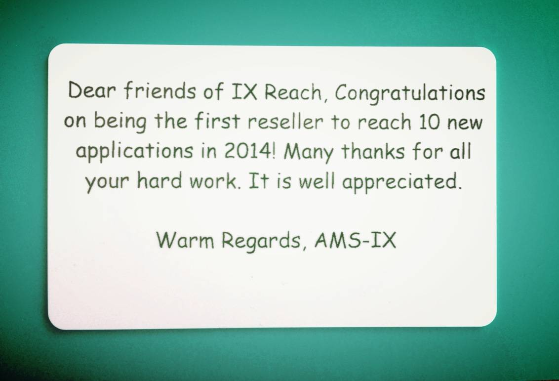 Well done from AMS-IX