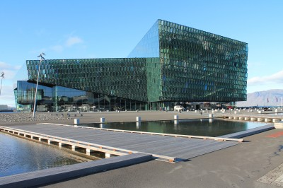 The Harpa venue in Reykjavik for Monday night at EPF