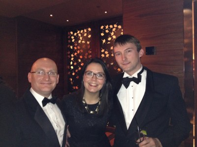 Ben Nicklin, Ruth Plater and Steve Wilcox at the Global Carrier Awards