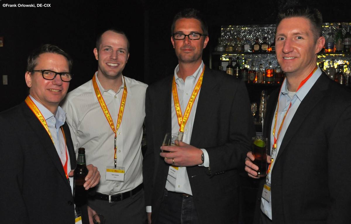 L-R: Andreas Sturm - DE-CIX, Tyler Coates - Zayo Colocation, Chris Morley - Zayo Group, Aron Smith - CoreSite