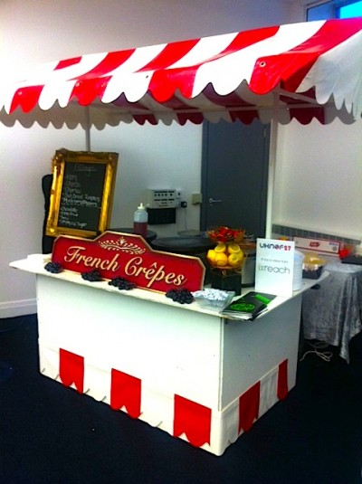 The IX Reach-sponsored Crêpe Cart at UKNOF27